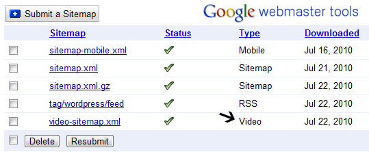 Google Video sitemaps